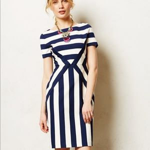 Anthropologie Maeve Meeting Point Stripe Dress 12